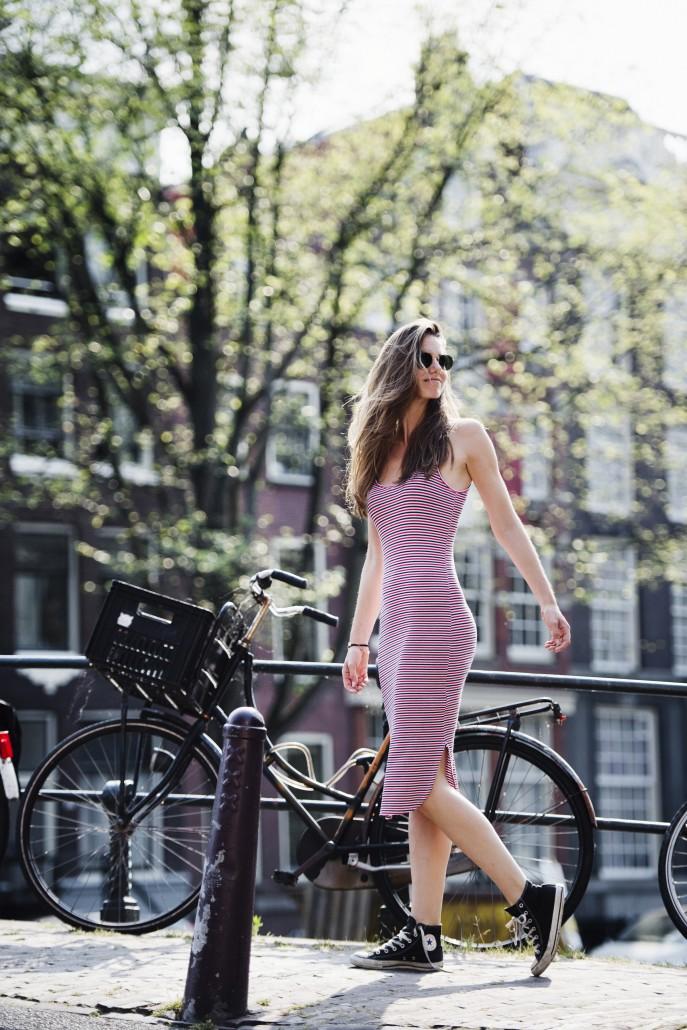 Outfit: Streepjes jurk
